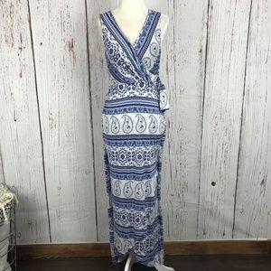 Gilli Stitch Fix Jersey Faux Wrap Paisley Dress